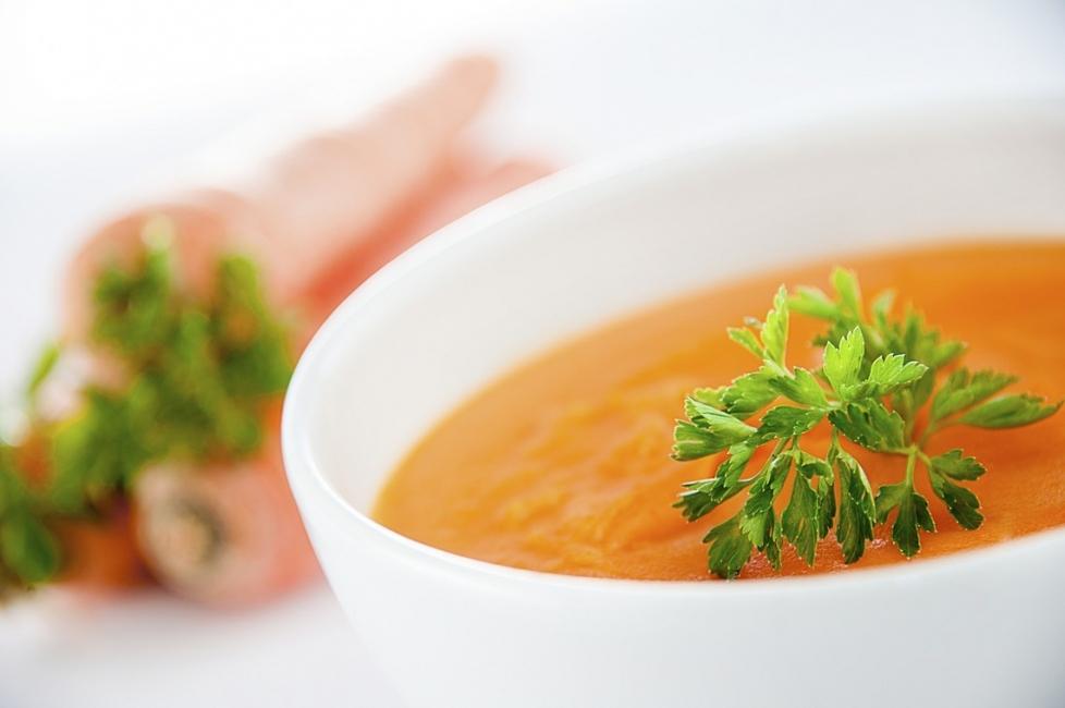 Крем супа от моркови с дафинов лист