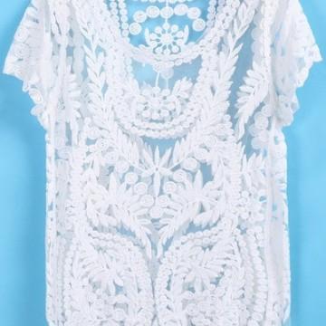 Красива дантелена блуза
