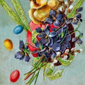 Красиви ретро картички за най-светлия празник – Великден