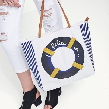 """Находка на деня: Плажнатa чанта """"Beliеve in"""""""