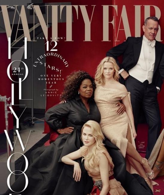 Как Vanity Fair изтриха Джеймс Франко от корицата си, но пък дадоха на Опра и Рийз по още един крайник