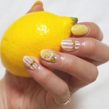 Маникюр с дъх на лимони: 27 идеи