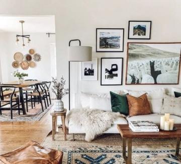 33 идеи как да включим бохо килима в интериора у дома