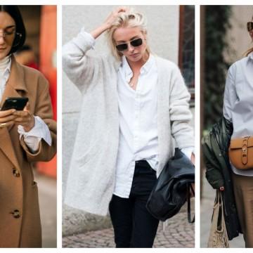 3 начина как да носим бяла риза през зимата