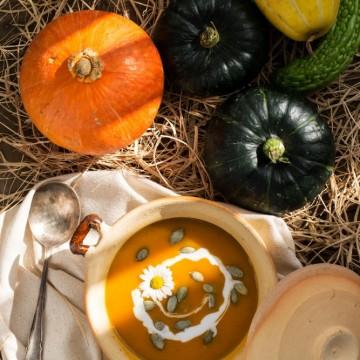 Есенна тиквена супа с джинджифил и куркума