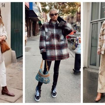 21 стайлинг идеи с вълнената риза, която носим като яке