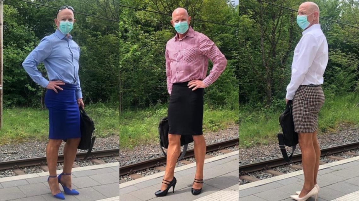 Мъжът, който носи токчета, за да разбие половите стереотипи