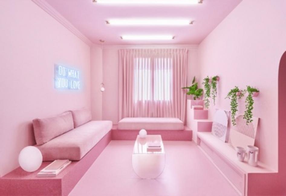 Апартамент в 12 нюанса розово