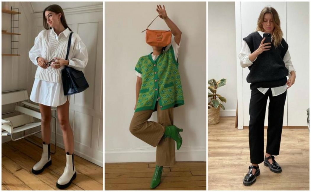 21 стайлинг идеи как да носим плетения елек, който отново е актуален