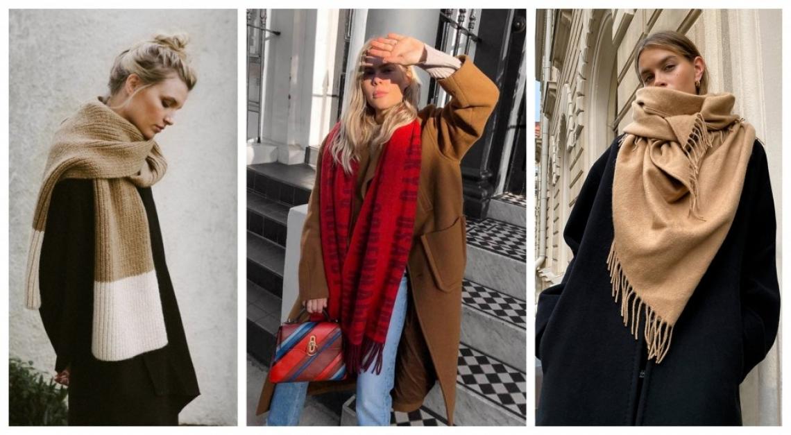 17 стайлинг идеи как да носим големите топли шалове