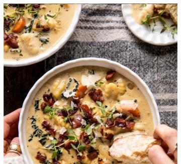 Домашна супа с ньоки, розмарин и бекон