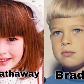 Ще ги познаете ли? Вижте детските снимки на Анджелина Джоли, Ан Хатауей, Брад Пит и още...