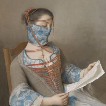 Как един артист скри лицата на известни картини с... маски