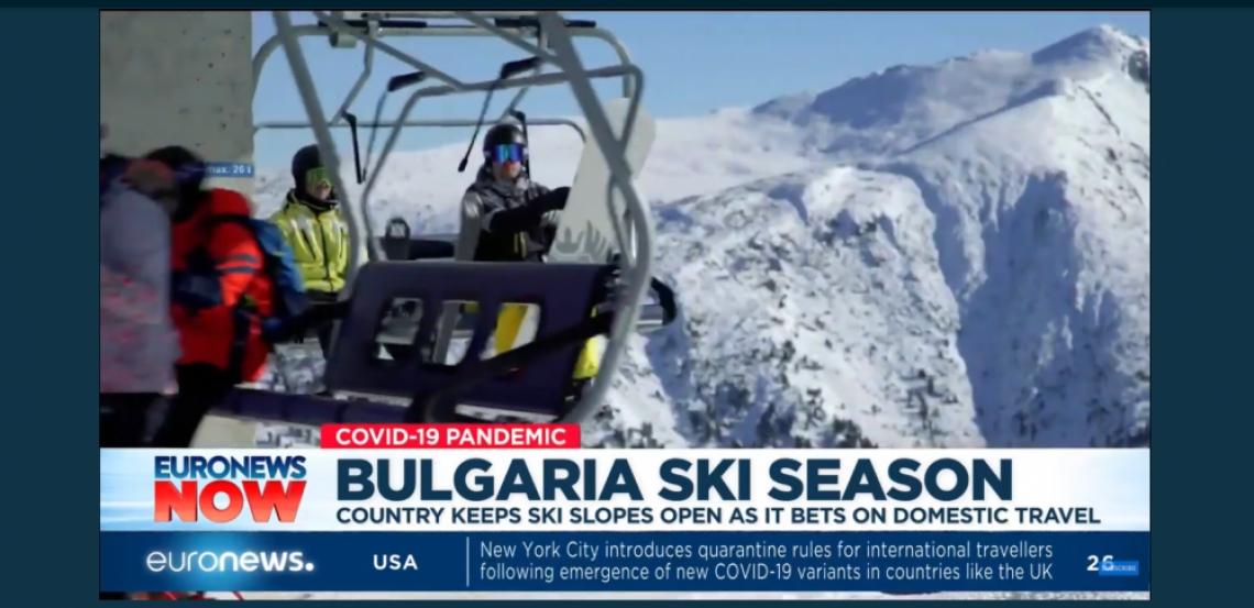 Евронюз: В Банско снегът и скиорите си дават среща