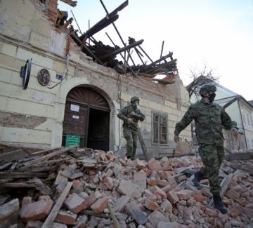 Хърватското земетресение в снимки
