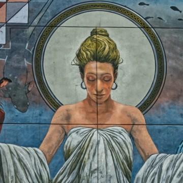 Стенописи и графити с женски лица