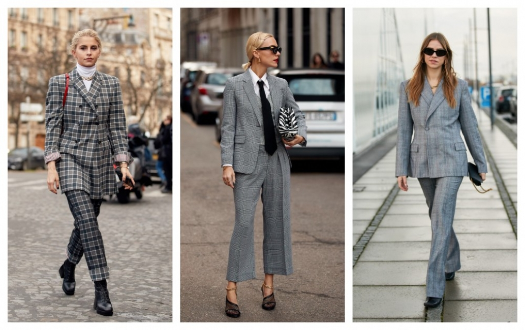 7 стайлинг идеи как да носим костюм в каре