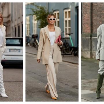 7 стайлинг идеи как да носите костюм с тишърт