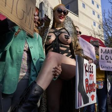 Протест на заетите в секс индустрията срещу ограничителните мерки
