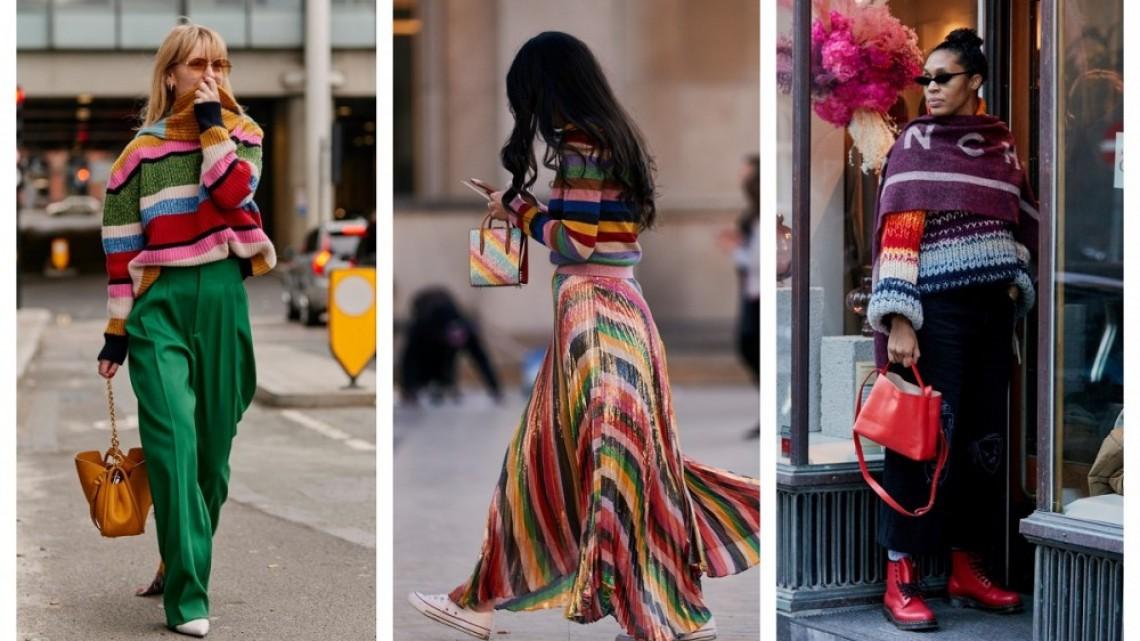 6 идеи как да освежим стайлинга си с пуловер на цветно райе