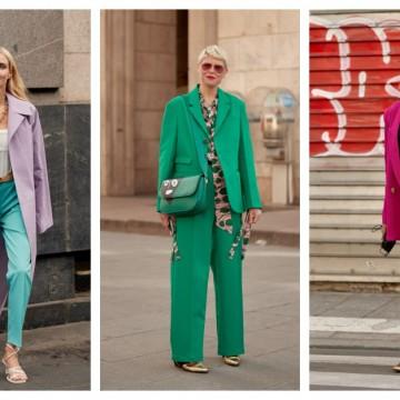 12 идеи как да освежите стайлинга си с цветен костюм