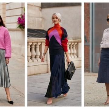 6 стайлинг идеи как да комбинирате пола с пуловер през пролетта