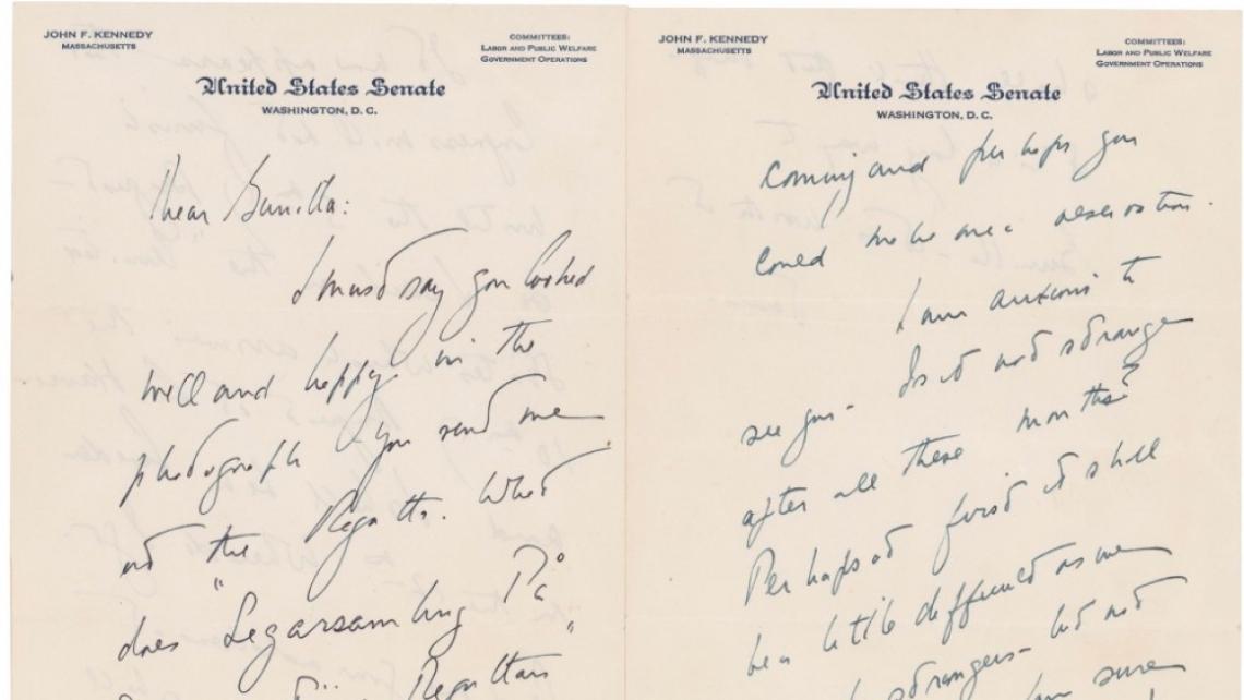 Любовните писма на Кенеди до една европейска аристократка