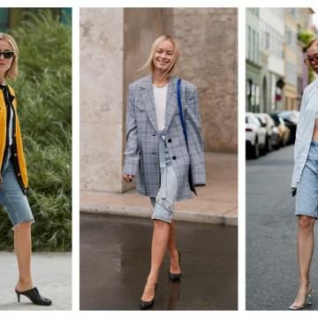 8 стайлинг идеи как да носим дънковите бермуди по най-елегантния начин