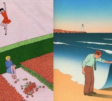 Сюрреалистичните илюстрации, с които да надникнем в себе си
