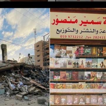 Възстановяват книжарница в Газа след израелските въздушни удари
