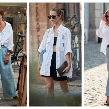 5 начина как да носим любимата си бяла риза през лятото