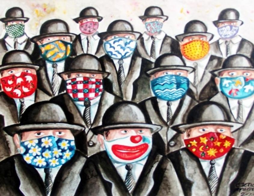 Пандемията вдъхновява карикатуристи