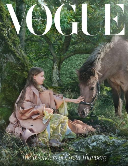 Грета Тунберг критикува модната индустрия от корицата на Vogue