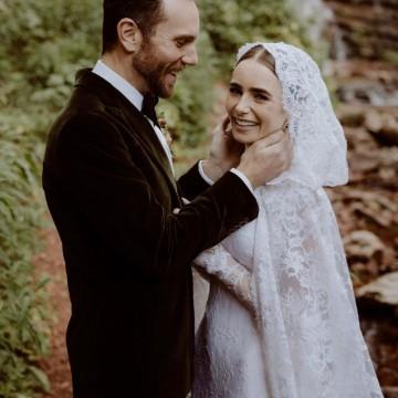 Лили Колинс се омъжи в приказна рокля на Ralph Lauren