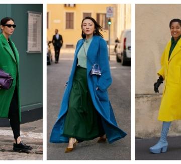 6 елегантни стайлинг идеи как да носим палто в ярък цвят