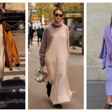 9 стайлинг идеи как да носим дълга плетена рокля