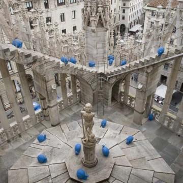 Сини охлюви в Милано