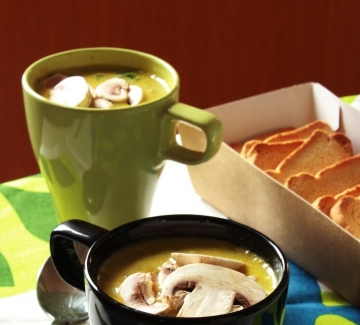 Ароматна  супа с гъби и просо