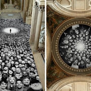 Фреските на JR в Пантеона в Париж