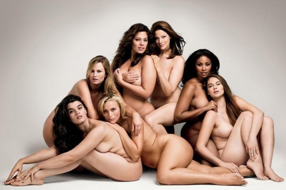 5 красиви жени в модата с нормални размери