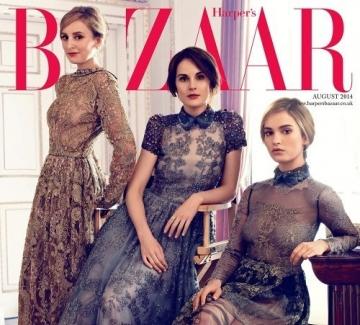 """Звездите от """"Имението Даунтаун""""- на страниците на августовския брой на """"Harper's Bazaar""""."""