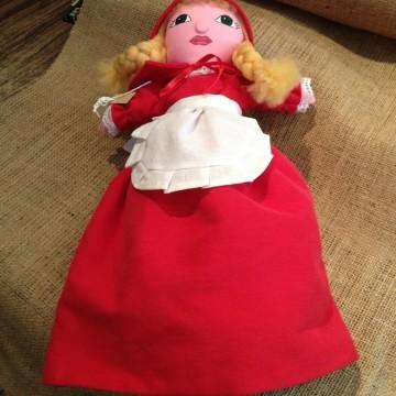 За Червената шапчица, една уникална ръчно изработена кукла
