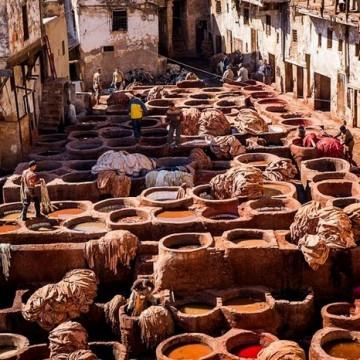 Боядисване на кожи в Мароко - една вековна традиция