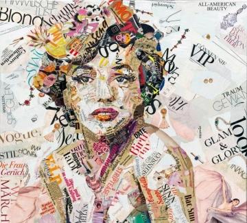 Пленителни филмови, поп и рок икони в арт колажи от хартия