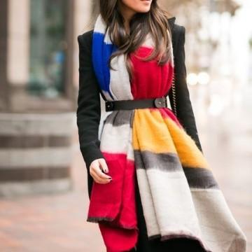 Вдъхновени от улицата: Как се носи шал?