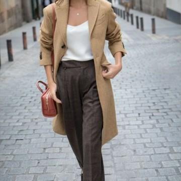 Вдъхновени от улицата: Как се носи палто в цвят камел?