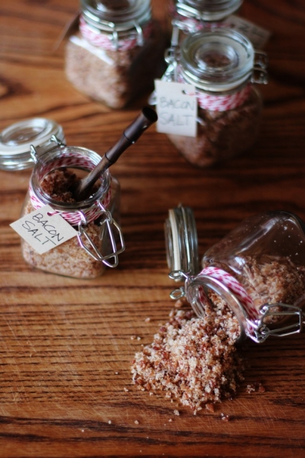 Домашно приготвена морска сол с бекон