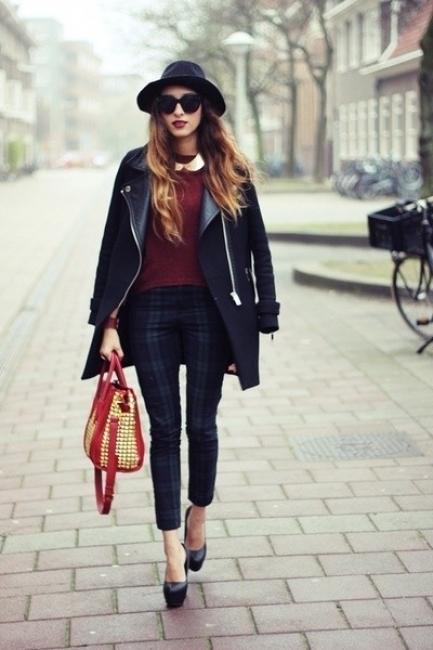Вдъхновени от улицата: Как се носи кариран панталон?