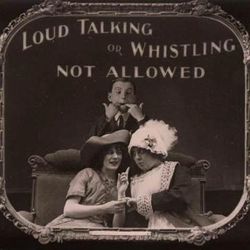 Шапки долу: Правилата за поведение в киносалоните преди 100 години