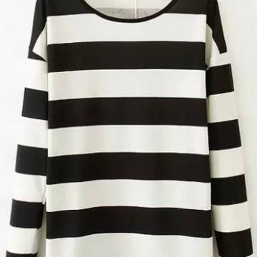 Находка на деня: Красива раирана блуза с дълъг ръкав